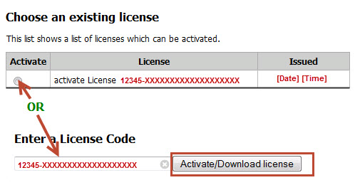 Enter License Code