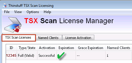 TSX Scan License Overview