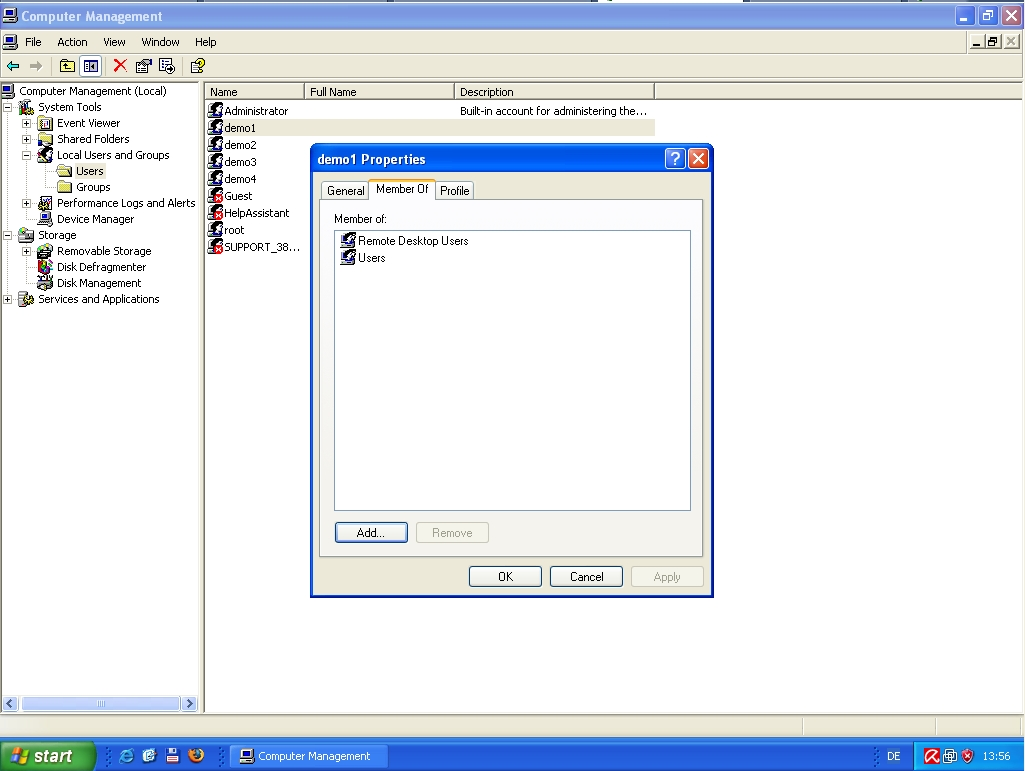 Thinstuff Faq S Support Topics How Can I Add Users To The Remote Desktop User Group In Windows Xp