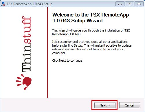 Thinstuff FAQ's | Support Topics - Installation and Usage of TSX